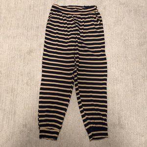 Ava Sky Dark Navy/Dark Tan Cuffed Pants